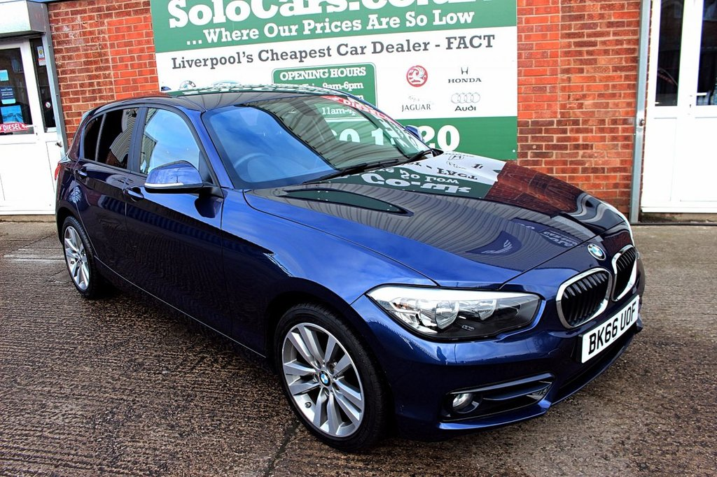 USED 2016 66 BMW 1 SERIES 1.5 116D SPORT 5d 114 BHP +ONE OWNER +LOW TAX +SAT NAV.