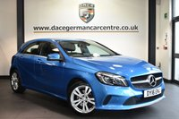 """USED 2016 16 MERCEDES-BENZ A CLASS 2.1 A 200 D SPORT PREMIUM 5DR AUTO 134 BHP Finished in a stunning south sea metallic blue styled with 17"""" alloys. Upon opening the drivers door you are presented with full black leather interior, full service history, satellite navigation, bluetooth, reversing camera, heated seats, cruise control, multi functional steering wheel, rain sensors, electric folding mirrors, attention assist, ambient lighting, active park assist, ULEZ EXEMPT"""