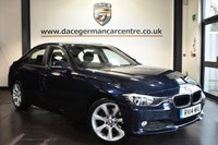 """USED 2014 14 BMW 3 SERIES 2.0 320D SE 4DR 184 BHP Finished in a stunning imperial metallic blue styled with 18""""alloys. Upon opening the drivers door you are presented with cloth upholstery, exceelent service history, satellite navigation, bluetooth, cruise control, DAB radio, Automatic air conditioning, Multifunction steering wheel, Rain sensors, Interior mirror with automatic-dip, parking sensors"""