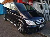 USED 2014 63 MERCEDES-BENZ VITO 122 CDi SPORT-X 3.0 V6 BRABUS DUALINER AUTO *ONLY 47000 MILES* FULL LEATHER - SAT NAV - HEATED SEATS - PARKTRONIC