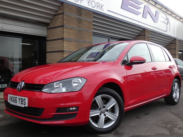 2016 66 VOLKSWAGEN GOLF 1.6 MATCH EDITION TDI BMT 5d 109 BHP
