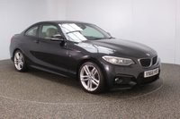 USED 2016 66 BMW 2 SERIES 2.0 218D M SPORT 2DR AUTO 1 OWNER 148 BHP FULL BMW SERVICE HISTORY + £30 12 MONTHS ROAD TAX + HEATED LEATHER SEATS + SATELLITE NAVIGATION + PARKING SENSOR + HEATED STEERING WHEEL + BLUETOOTH + CRUISE CONTROL + CLIMATE CONTROL + MULTI FUNCTION WHEEL + DAB RADIO + XENON HEADLIGHTS + ELECTRIC WINDOWS + ELECTRIC/HEATED DOOR MIRRORS + 18 INCH ALLOY WHEELS