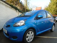 USED 2011 11 TOYOTA AYGO 1.0 VVT-I BLUE 5d 67 BHP GUARANTEED TO BEAT ANY 'WE BUY ANY CAR' VALUATION ON YOUR PART EXCHANGE