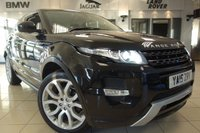 "USED 2015 15 LAND ROVER RANGE ROVER EVOQUE 2.2 SD4 DYNAMIC 3d AUTO 190 BHP FINISHED IN STUNNING SANTORINO BLACK WITH FULL BLACK LEATHER HEATED SEATS WITH MEMORY PACK + FULL SERVICE HISTORY + SATELLITE NAVIGATION + MERIDIAN SOUND SYSTEM + HEATED FRONT SEATS + BLUETOOTH + CRUISE CONTROL + 2O"" SILVER ALLOY WHEELS + AUTO LIGHTS + ADAPTIVE CRUISE CONTROL + POWER FOLDING MIRRORS + VOICE COMMAND + RAIN SENSORS + OFF ROAD SETTINGS + LEATHER DASHBOARD + ECO MODE"