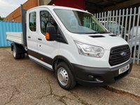 USED 2016 16 FORD TRANSIT 350 LWB L3 Double Cab Alloy Tipper 125 PS *TWIN REAR WHEELS* ALLOY SIDES - TWIN REAR WHEELS - ONLY 41000 MILES