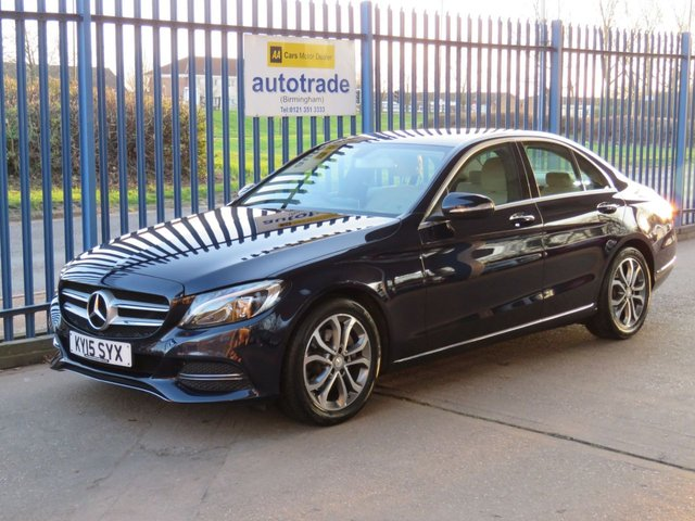 USED 2015 15 MERCEDES-BENZ C CLASS 2.1 C220 BLUETEC Sport 4dr Sat nav Full leather Rear camera Heated seats ULEZ COMPLIANT Ulez compliant Automatic with Full Leather