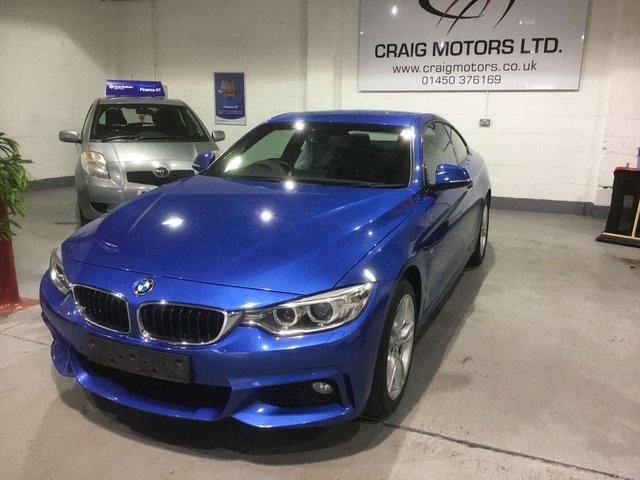 2015 65 BMW 4 SERIES 2.0L 420D XDRIVE M SPORT 2d 188 BHP