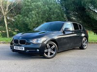 USED 2012 61 BMW 1 SERIES 2.0 118D SPORT 5d 141 BHP NEW SHAPE GREAT LOOKING 1 SERIES SPORT 5 DOOR IN BLACK WITH BLACK SPORTS TRIM