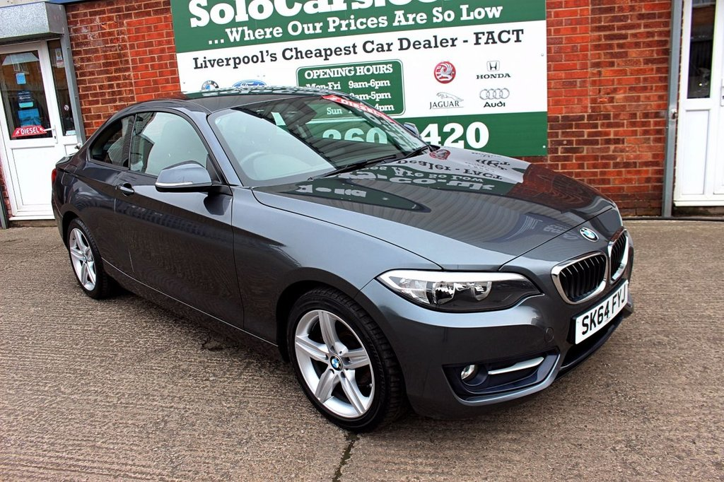 USED 2014 64 BMW 2 SERIES 2.0 218D SPORT 2d 141 BHP +ONE OWNER +LOW TAX +SAT NAV.