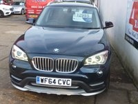 USED 2014 64 BMW X1 2.0 XDRIVE25D XLINE 5d 215 BHP FULL BMW SERVICE HISTORY,GLASS PANORAMIC ROOF