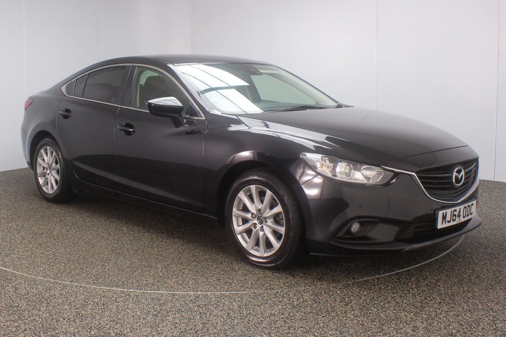 USED 2014 64 MAZDA 6 2.2 D SE-L NAV 4DR 148 BHP SERVICE HISTORY + £20 12 MONTHS ROAD TAX + SATELLITE NAVIGATION + PARKING SENSOR + BLUETOOTH + CRUISE CONTROL + CLIMATE CONTROL + MULTI FUNCTION WHEEL + XENON HEADLIGHTS + PRIVACY GLASS + DAB RADIO + ELECTRIC WINDOWS + ELECTRIC/HEATED/FOLDING DOOR MIRRORS + 17 INCH ALLOY WHEELS