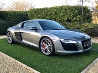 USED 2012 62 AUDI R8 4.2 V8 LIMITED EDITION 2d 424 BHP Finished in Titanium Grey Exclusive this Stunning One Owner Le-Mans and Limited Edition is 1 of only 100 Vehicles Produced Worldwide and is in Exceptional Condition. Trimmed with Exclusive Heated Black and Red Nappa Leather Sports Seats Further Complemented with an Interior Carbon Package to Include Illuminated R8 Door Sill Plates Carbon Centre Console Wrap Around Dash, Door Handles Other Specification Includes: MMI Satellite Navigation + Bluetooth Connectivity + Bang & Olufsen Premium Sound