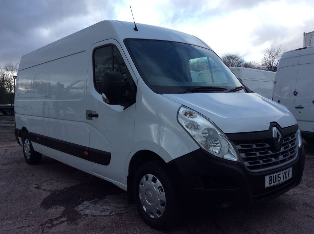 USED 2015 15 RENAULT MASTER LWB 2.3 LM35 BUSINESS DCI S/R 125 BHP 1 OWNER FSH NEW MOT FREE 6 MONTHS WARRANTY INCLUDING RECOVERY AND ASSIST NEW MOT BLUETOOTH ELECTRIC PACK EURO 5