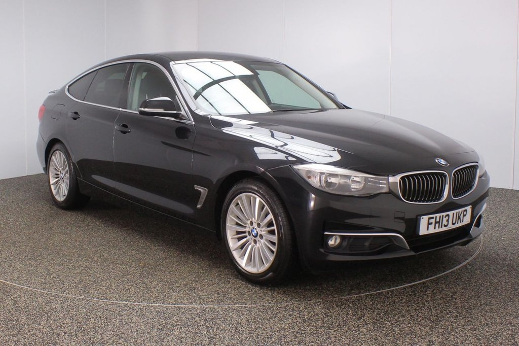 USED 2013 13 BMW 3 SERIES GRAN TURISMO 2.0 320D LUXURY GRAN TURISMO 5DR AUTO 181 BHP BMW SERVICE HISTORY + HEATED LEATHER SEATS + SATELLITE NAVIGATION + PARKING SENSOR + BLUETOOTH + CRUISE CONTROL + CLIMATE CONTROL + MULTI FUNCTION WHEEL + DAB RADIO + ELECTRIC WINDOWS + ELECTRIC/HEATED DOOR MIRRORS + 18 INCH ALLOY WHEELS
