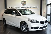 """USED 2015 65 BMW 2 Series GRAN TOURER 1.5 218I SPORT GRAN TOURER 5DR 134 BHP Finished in a stunning alpine white styled with 17"""" alloys. Upon opening the drivers door you are presented with anthracite upholstery, full service history, satellite navigation, bluetooth, DAB radio, cruise control, Multifunction steering wheel, automatic boot lid, Tables in rear cabin,  Automatic air conditioning, Light package, park assist, parking sensors, ULEZ EXEMPT"""