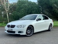 USED 2012 12 BMW 3 SERIES 2.0 320D SPORT PLUS EDITION 2d 181 BHP GREAT SPEC SPORT PLUS COUPE IN MINERAL WHITE WITH BLACK SPORTS LEATHER FSH