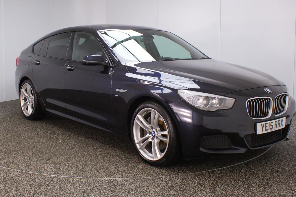 USED 2015 15 BMW 5 SERIES GRAN TURISMO 3.0 530D M SPORT GRAN TURISMO 5DR AUTO 255 BHP FULL BMW SERVICE HISTORY + HEATED LEATHER SEATS + PANORAMIC ROOF + SATELLITE NAVIGATION + REVERSE CAMERA + PARKING SENSOR + BLUETOOTH + CRUISE CONTROL + CLIMATE CONTROL + MULTI FUNCTION WHEEL + XENON HEADLIGHTS + DAB RADIO + ELECTRIC SEATS + ELECTRIC WINDOWS + RADIO/CD/AUX/USB + ELECTRIC/HEATED DOOR MIRRORS + 20 INCH ALLOY WHEELS