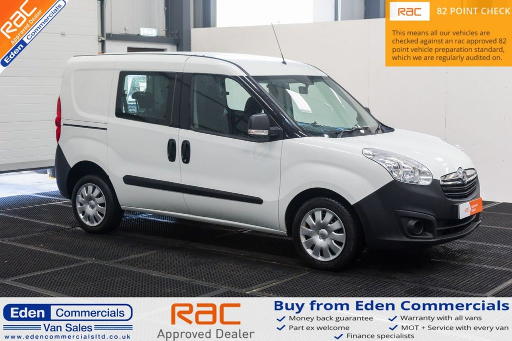 USED 2016 16 VAUXHALL COMBO VAN 1.2 2300 L1H1 CDTI 90 BHP * 5 SEATER * CREW VAN * AIR CON & TAILGATE