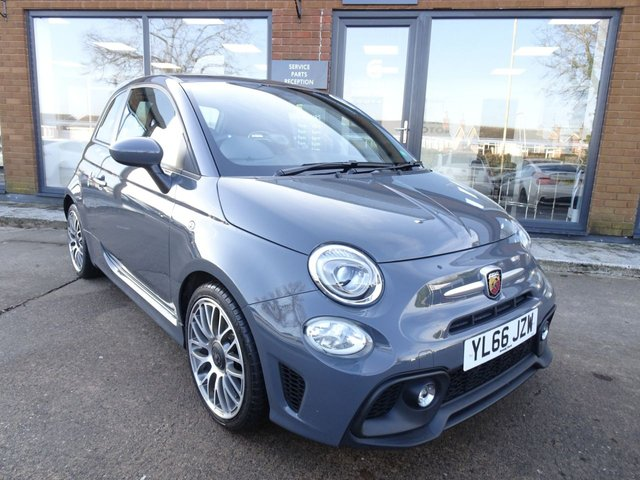 USED 2017 66 ABARTH 500 1.4 595 3d 144 BHP 1 OWNER. FSH, SAT NAV, DAB RADIO, BLUETOOTH, REAR PARKING SENSORS, HPI CLEAR, READ OUR 5 STAR REVIEWS ON AUTOTRADER