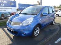 USED 2009 59 NISSAN NOTE 1.6 ACENTA 5d 110 BHP 4 Stamps Of Service History. 2 Owner Car. New MOT & Full Service Done on purchase + 2 YEARS FREE MOT TEST & 2 YEARS FULL SERVICE'S INCLUDED. 3 Months Russell Ham Quality Warranty . All Car's Are HPI Clear . Finance Arranged - Credit Card's Accepted . for more cars www.russellham.co.uk  + Spare Key & Owners Book Pack.