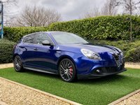 USED 2016 16 ALFA ROMEO GIULIETTA 1.7 TBI QUADRIFOGLIO VERDE TCT 5d 240 BHP A Pristine 1 Owner Vehicle with a Full Alfa Romeo Dealer Service History. Finished in Cobalto Blue Metallic with Black Full Leather Heated Electric Memory Seats + Alfa Crest Embossed to Headrests. This Vehicle has an Fantastic Specification to Include: HDD Satellite Navigation + Bluetooth Connectivity + DAB Radio, 18 Inch Graphite Grey Turbine Style Alloy Wheels, Front and Rear Park Distance Control, Automatic Bi-xenon Headlights + Power Wash + LED Signature, Digital Dual Zone Climate Contr