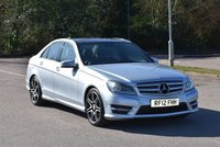 USED 2012 12 MERCEDES-BENZ C CLASS 2.1 C250 CDI BLUEEFFICIENCY AMG SPORT PLUS 4d 202 BHP