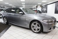 USED 2013 63 BMW 5 SERIES 2.0 520D M SPORT TOURING 181 BHP FBMWSH PAN ROOF HOT LTHR DAB