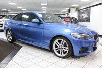 USED 2014 14 BMW 2 SERIES 2.0 220D M SPORT 181 BHP STUNNING BMWSH NAV XENONS