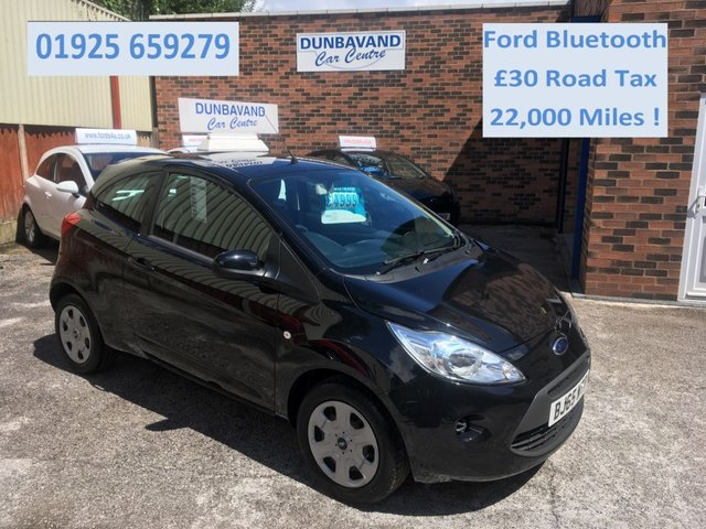 USED 2015 65 FORD KA 1.2 EDGE 3d 69 BHP Ford Bluetooth, Only £30 Road Tax & 22,000 Miles, Air Con,Electric Windows & Remote Central Locking.