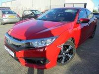 USED 2018 HONDA CIVIC 1.6 I-DTEC SR 4d 118 BHP Stunning Condition, Super Low Mileage, Low Rate Finance Available, No Fees Finance, Manu Warranty, Part Ex Welcomed