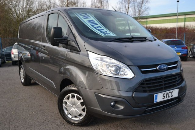 USED 2017 67 FORD TRANSIT CUSTOM 2.0 290 TREND LR P/V 129 BHP SEA GREY ~ FRONT AND REAR PARK SENSORS ~ CRUISE CONTROL