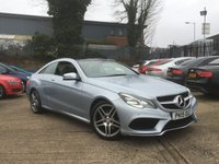 USED 2015 15 MERCEDES-BENZ E CLASS 2.1 E220 BLUETEC AMG LINE 2d 174 BHP PANORAMIC ROOF - FULL HEATED LEATHER - FRONT AND REAR SENSORS - 18 INCH DIMAOND CUT ALLOYS - DIAMOND SILVER