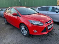 USED 2012 62 FORD FOCUS 1.0 ZETEC 5d 99 BHP ONLY £20 PER YEAR ROAD TAX