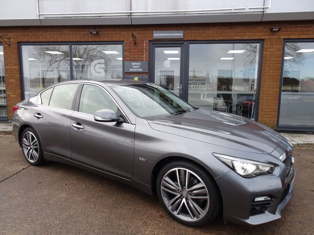 USED 2014 64 INFINITI Q50 2.1 SPORT D 4d 168 BHP FULL INFINITY SERVICE HISTORY, SAT NAV, HEATED ELECTRIC LEATHER, REVERSE CAMERA, PARKING SENSORS, BLUETOOTH, 19 INCH ALLOYS, MOT TILL DECEMBER 2020, 2 REMOTE KEYS, HPI CLEAR