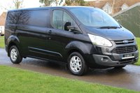 USED 2014 64 FORD TRANSIT CUSTOM 2.2 290 LIMITED LR P/V 124 BHP NO VAT LONG WHEEL BASE BLACK LIMITED WARRANTY INCLUDED