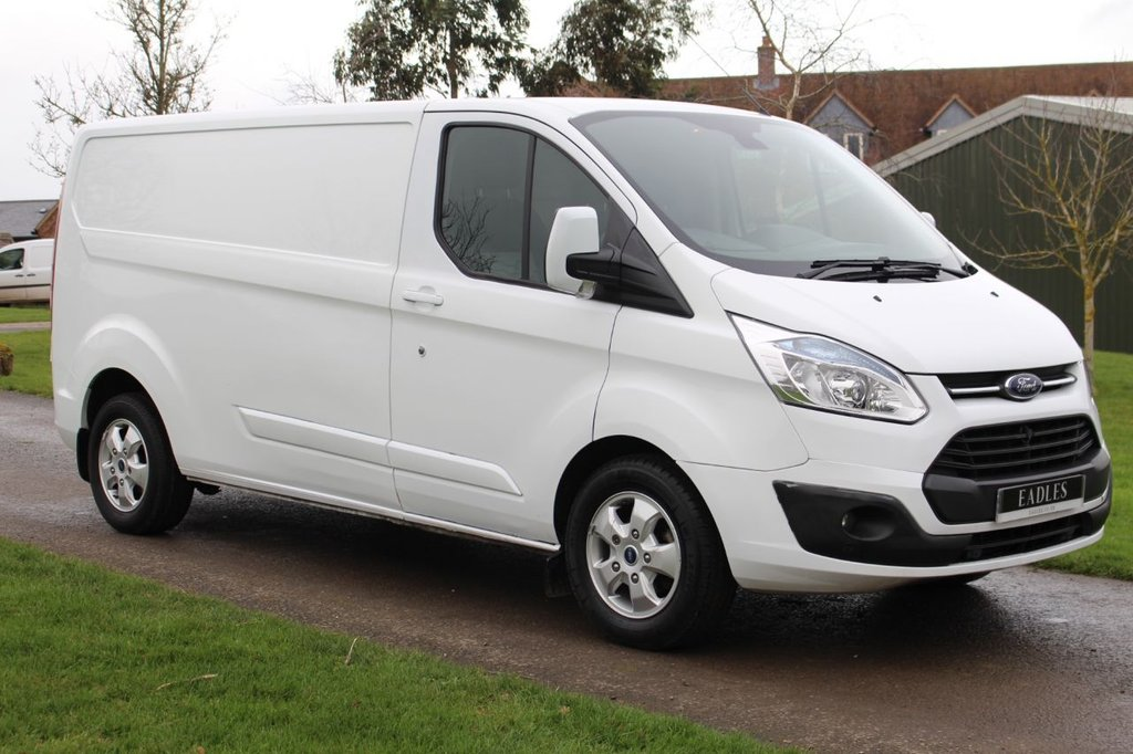 USED 2016 66 FORD TRANSIT CUSTOM 2.2 290 LIMITED LR P/V 124 BHP NO VAT LIMITED LONG WHEEL BASE LOW MILAGE WARRANTY INCLUDED