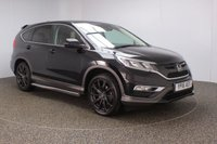 USED 2016 16 HONDA CR-V 1.6 I-DTEC BLACK EDITION 5DR AUTO 1 OWNER 158 BHP SERVICE HISTORY + LEATHER SEATS + SATELLITE NAVIGATION + REVERSE CAMERA + PARKING SENSOR + BLUETOOTH + CRUISE CONTROL + CLIMATE CONTROL + MULTI FUNCTION WHEEL + SIDE STEPS + LANE ASSIST SYSTEM + DAB RADIO + PRIVACY GLASS + ELECTRIC WINDOWS + ELECTRIC/HEATED/FOLDING DOOR MIRRORS + 19 INCH ALLOY WHEELS