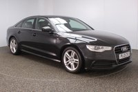 USED 2013 13 AUDI A6 2.0 TDI S LINE 4DR 175 BHP + BLACK LEATHER SERVICE HISTORY + LEATHER SEATS + PARKING SENSOR + BLUETOOTH + CRUISE CONTROL + CLIMATE CONTROL + MULTI FUNCTION WHEEL + DAB RADIO + ELECTRIC WINDOWS + RADIO/CD/AUX/SD + ELECTRIC/HEATED DOOR MIRRORS + 18 INCH ALLOY WHEELS