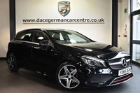 "USED 2015 65 MERCEDES-BENZ A CLASS 2.0 A 250 4MATIC AMG 5DR AUTO 215 BHP Finished in a stunning cosmos metallic black styled with 18"" alloys. Upon opening the drivers door you are presented with half black leather interior, full service history, satellite navigation, bluetooth, reversing camera, heated seats, cruise control, multi functional steering wheel, electric folding mirrors, attention assist, rain sensors, active park assist, ULEZ EXEMPT"