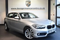"USED 2018 67 BMW 1 SERIES 1.5 118I SPORT 5DR 134 BHP Finished in a stunning glacier metallic silver styled with 17"" alloys. Upon opening the drivers door you are presented with anthracite upholstery, full service history, satellite navigation, bluetooth, DAB radio, Multifunction steering wheel, sport seats, rain sensors, ULEZ EXEMPT"