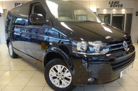 USED 2013 13 VOLKSWAGEN CARAVELLE 2.0 SE TDI BLUEMOTION TECHNOLOGY 5d AUTO 140 BHP FINISHED IN STUNNING METALLIC BLACK WITH CLOTH SEATS + AN EXCEPTIONAL, TOP OF THE RANGE MOBILTY CONVERSION WITH HYDRAULIC REAR TAILGATE LIFT FOR DISABILITY ACCESS + FULL WHEEL CHAIR ANCHOR POINTS + FULLY DOCUMENTED VOLKSWAGEN MAIN DEALER SERVICE HISTORY + FM/AM RADIO + IN CAR ENTERTAINMENT AUX/CD + CRUISE CONTROL + CLIMATE CONTROL + DUAL ZONE AIR CONDITIONING + FRONT/REAR PARKING AID + FULL PRIVACY GLASS WITH FOLD DOWN BLINDS + FULL RETRACTABLE TWO BAR KIT WITH KEYS + A SUPERBLY MAINTAINED VEHIC