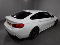 USED 2016 16 BMW 4 SERIES GRAN COUPE 2.0 420D M SPORT GRAN COUPE 4DR AUTO 1 OWNER 188 BHP FULL BMW SERVICE HISTORY + £30 12 MONTHS ROAD TAX + HEATED LEATHER SEATS + SATELLITE NAVIGATION + PARKING SENSOR + BLUETOOTH + CRUISE CONTROL + CLIMATE CONTROL + MULTI FUNCTION WHEEL + XENON HEADLIGHTS + DAB RADIO + ELECTRIC WINDOWS + ELECTRIC/HEATED DOOR MIRRORS + 18 INCH ALLOY WHEELS
