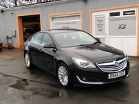 USED 2014 64 VAUXHALL INSIGNIA 2.0 DESIGN CDTI ECOFLEX S/S 5d 160 BHP Bluetooth, Colour Screen Media, Cruise Control, 3 Service Stamps
