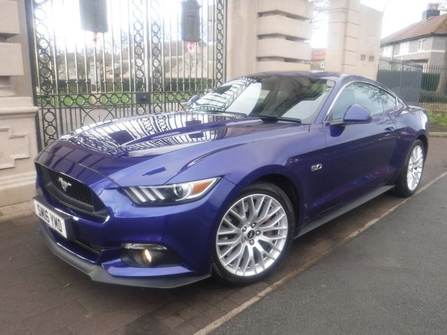 USED 2016 16 FORD MUSTANG 5.0 GT 2d 410 BHP *FULL SERVICE HISTORY*SAT NAV*BLUETOOTH*DAB*SHAKER SOUND SYSTEM*CAMERA*FULL LEATHER*