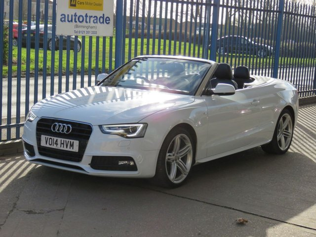 USED 2014 14 AUDI A5 2.0 TFSI S LINE SPECIAL EDITION 2dr Auto Convertible Sat nav Leather Cruise Heated seats Air scarf  ULEZ COMPLIANT A5 S-LINE SPECIAL EDITION 2.0TSI AUTO CONVERTIBLE