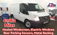 2013 FORD TRANSIT  2.2 TDCI T260 100 BHP 6 Speed Manual with Low Mileage (51,542), Rear Parking Sensors, Metal Racking, Heated Windscreen, Electric Windows and more £6980.00