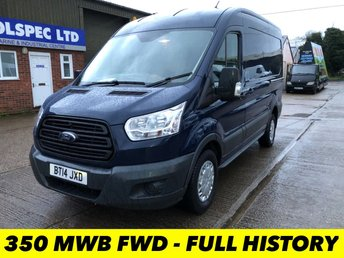 2014 FORD TRANSIT 2.2 350 MWB MED ROOF FWD 155 BHP £7250.00