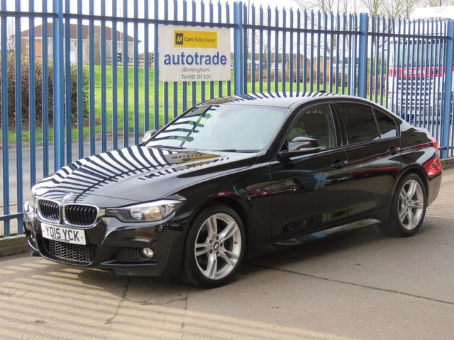 USED 2015 15 BMW 3 SERIES 2.0 320D M SPORT 4d 181 BHP BMW 320D M-SPORT AUTO HEATED FULL BLACK LEATHER INTERIOR, SATELLITE NAVIGATION AND PRIVACY GLASS