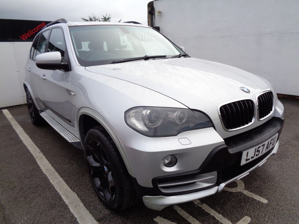 USED 2008 08 BMW X5 3.0 D SE  5d 232 BHP 4X4 AWD 4WD Satellite navigation bluetooth  full black leather  electric seats  alloy wheels  supplied  with service