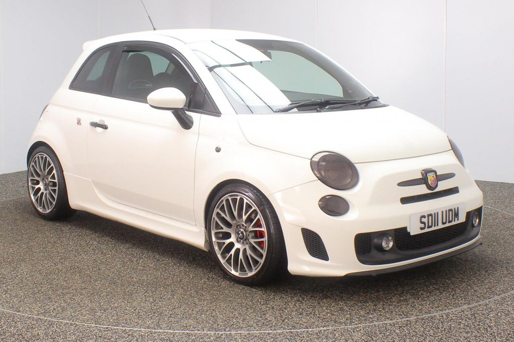 USED 2011 11 ABARTH 500 1.4 ABARTH 3d 135 BHP FULL SERVICE HISTORY + LEATHER SPORT SEATS + BLUETOOTH + MULTI FUNCTION WHEEL + RADIO/CD/AUX/USB + AIR CONDITIONING + PRIVACY GLASS + ELECTRIC WINDOWS + ELECTRIC MIRRORS + 17 INCH ALLOY WHEELS